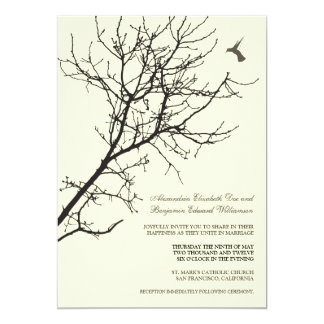 Tree Silhouette Wedding Invitation (ebony)
