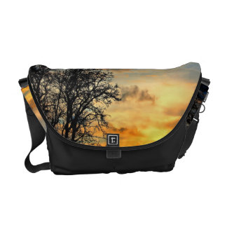 Tree Silhouettes at Sunset Messenger Bag