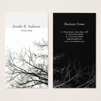 Tree Silhouettes Creative B&W business card
