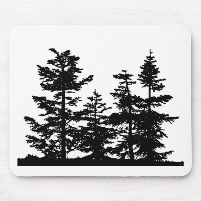 Tree Silhouettes Mouse Pad
