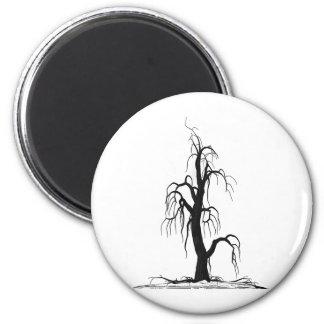 Tree Six 2 Inch Round Magnet