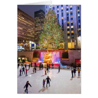 Tree Skaters Rockefeller Center 2013 Cards