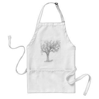 Tree Sketch apron