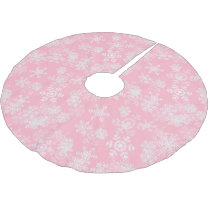 Tree Skirt-Snowflakes Brushed Polyester Tree Skirt