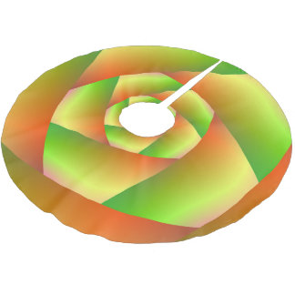 Tree Skirt  Spiral in Yellow Orange and Green