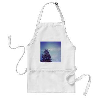 Tree sky clouds bird aprons