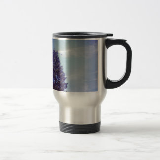 Tree sky clouds bird travel mug