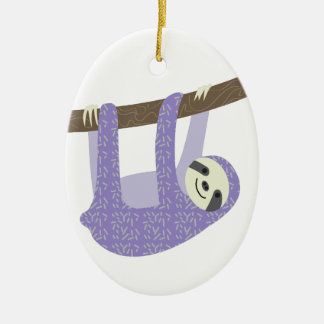 Tree Sloth Ceramic Ornament