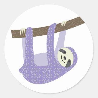 Tree Sloth Classic Round Sticker