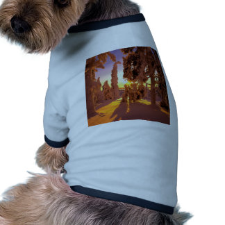 Tree Snow Covered Forest Finland Pet Tshirt