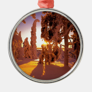 Tree Snow Covered Forest Finland Christmas Ornament