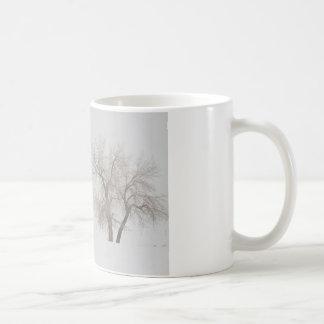Tree Snow Fog and The Prairie Dog Classic White Coffee Mug