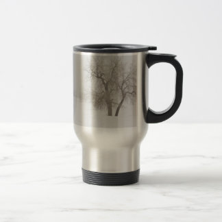 Tree Snow Fog and The Prairie Dog 15 Oz Stainless Steel Travel Mug