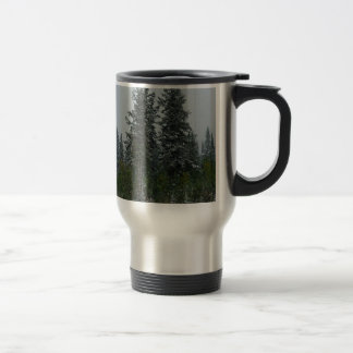 Tree Snowey Conifer Hill Travel Mug