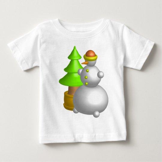 Tree&Snowman Playera De Bebé