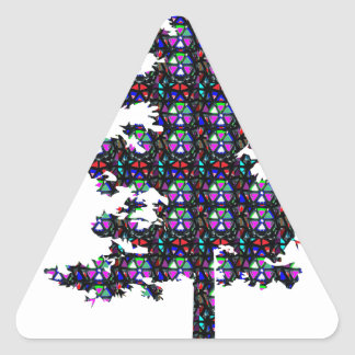 TREE Sparkle GREEN Environment NVN545 SACRED GIFTS Triangle Sticker