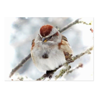 Tree Sparrow in Winter ATC Business Card Templates