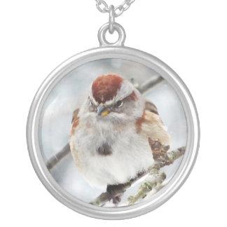 Tree Sparrow in Winter Pendants