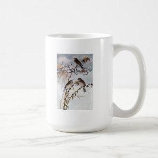 Tree Sparrows in Winter Coffee Mug
