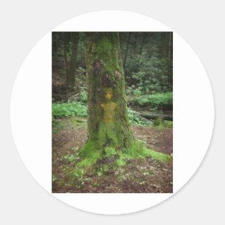 Tree Spirit Classic Round Sticker