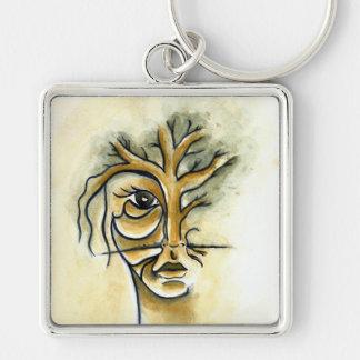 Tree Square Keychain