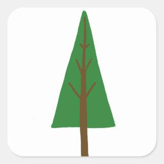 Tree Square Sticker