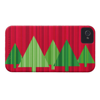 Tree Stripes Christmas Blackberry Case