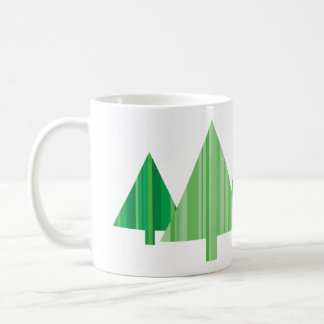 Tree Stripes Christmas Mug