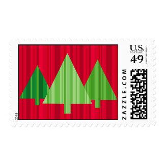Tree Stripes Christmas Postage Medium