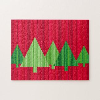Tree Stripes Christmas Puzzle