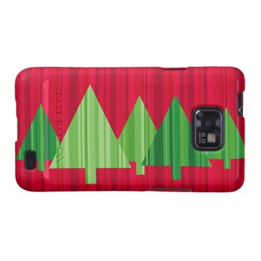 Tree Stripes Christmas Samsung Galaxy Case Samsung Galaxy S2 Covers