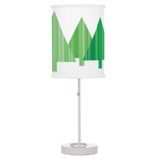 Tree Stripes Christmas Table Lamp - White