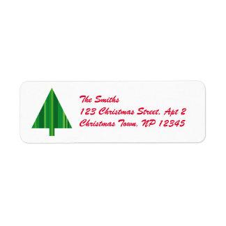 Tree Stripes Customizable Return Address Labels
