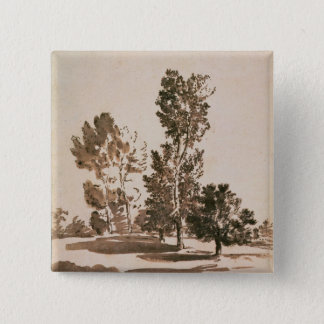 Tree Study (pen & ink on paper) Pinback Button