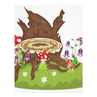 Tree Stump and Mushrooms Letterhead