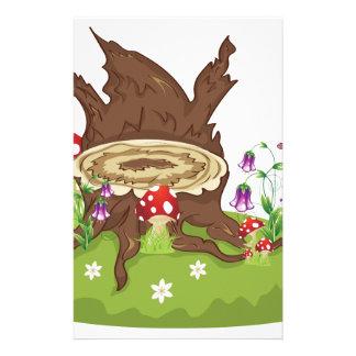 Tree Stump and Mushrooms Stationery