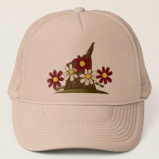 Tree Stump Flowers Trucker Hat
