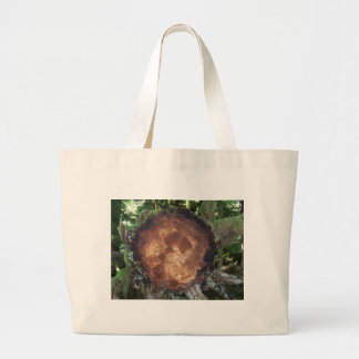 Tree Stump Large Tote Bag