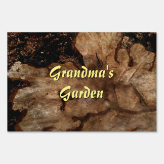 Tree Stump Personalized Garden Lawn Sign