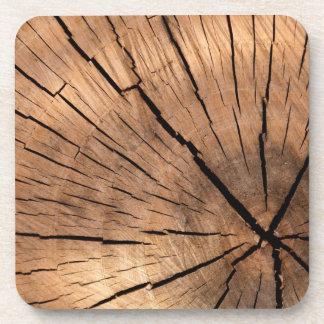 Tree Stump Texture Drink Coasters