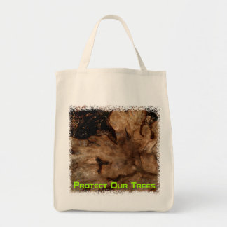 Tree Stump Tote Bag