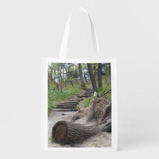 Tree Stump Trail Reusable Tote Market Totes