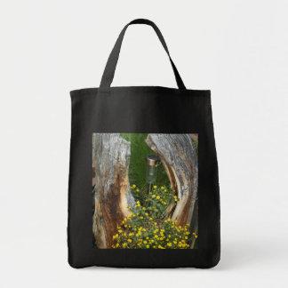 Tree Stump Unique Flower Hagbags Tote Bag