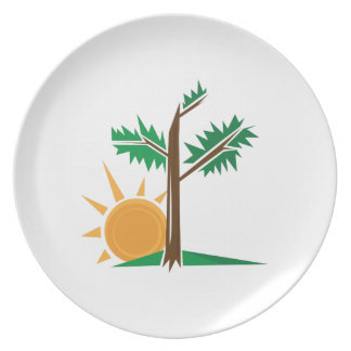Tree & Sun Party Plate