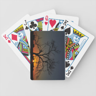 Tree Sunrise Playing Cards