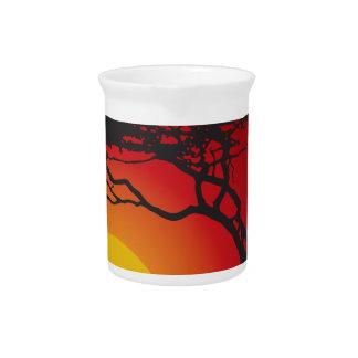 Tree sunset drink pitchers