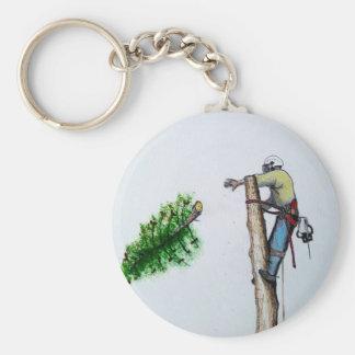 Tree Surgeon Arborist at work present Keychain