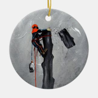 Tree Surgeon Arborist christmas present Birthday Ceramic Ornament