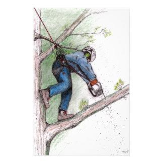 Tree Surgeon Arborist Lumberjack Stationery