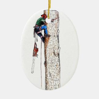 Tree Surgeon Arborist Stihl Ceramic Ornament